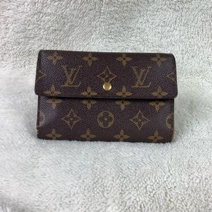 Auth Louis Vuitton Monogram Porte Etui Wallet